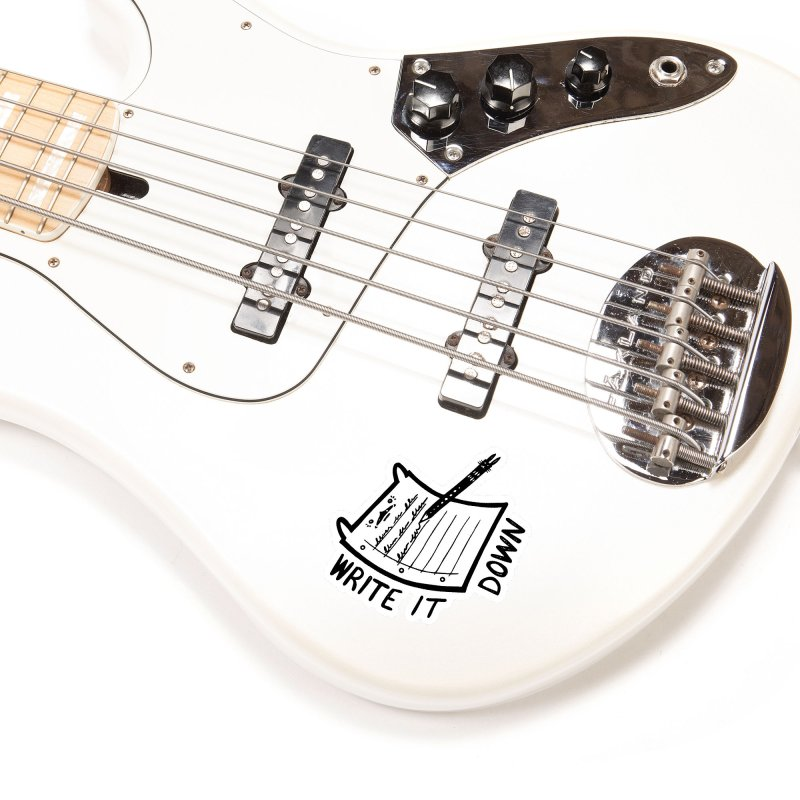 Write It Down (White BG) Accessories Sticker by Haypeep's Artist Shop