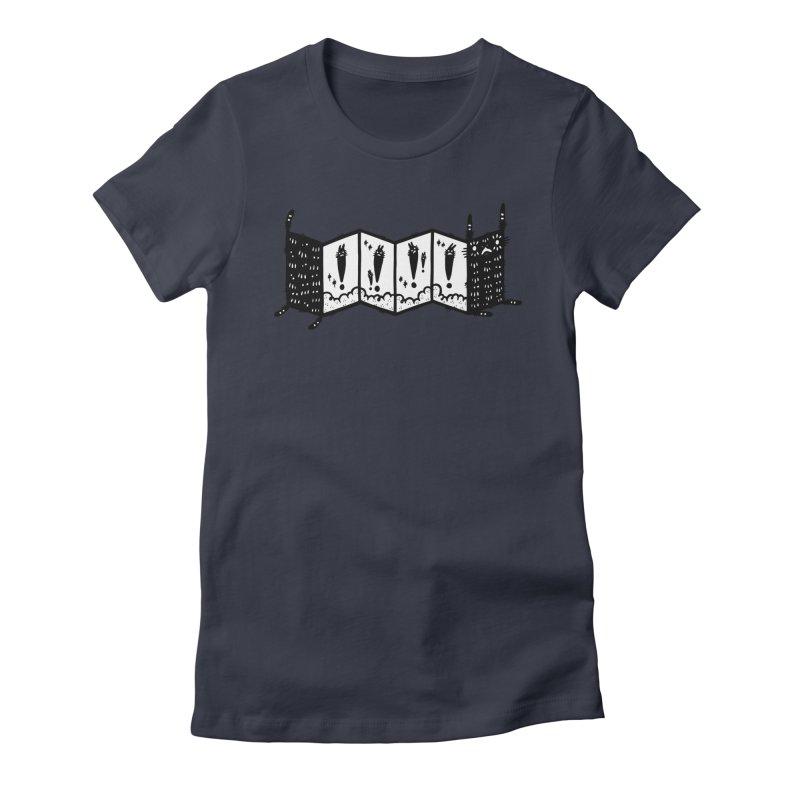Accordion Zine Buddy Women's Fitted T-Shirt by Haypeep's Artist Shop
