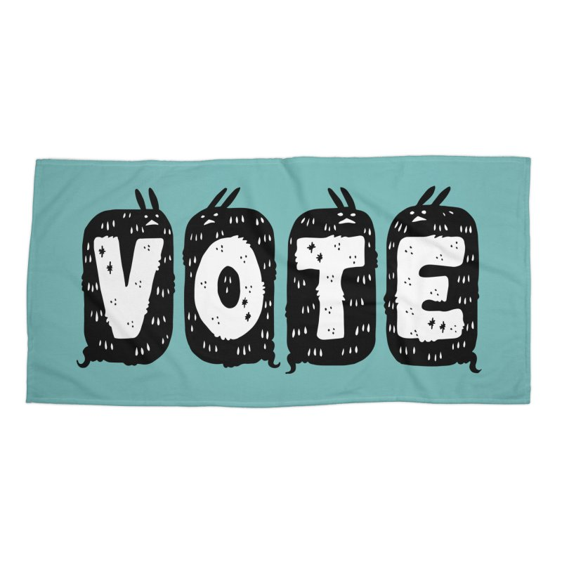 VOTE Accessories Beach Towel by Haypeep's Artist Shop