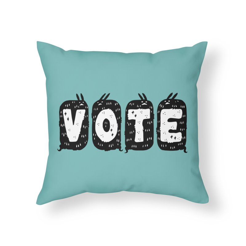 VOTE Home Throw Pillow by Haypeep's Artist Shop