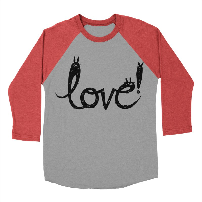 Love! Women's Baseball Triblend Longsleeve T-Shirt by Haypeep's Artist Shop