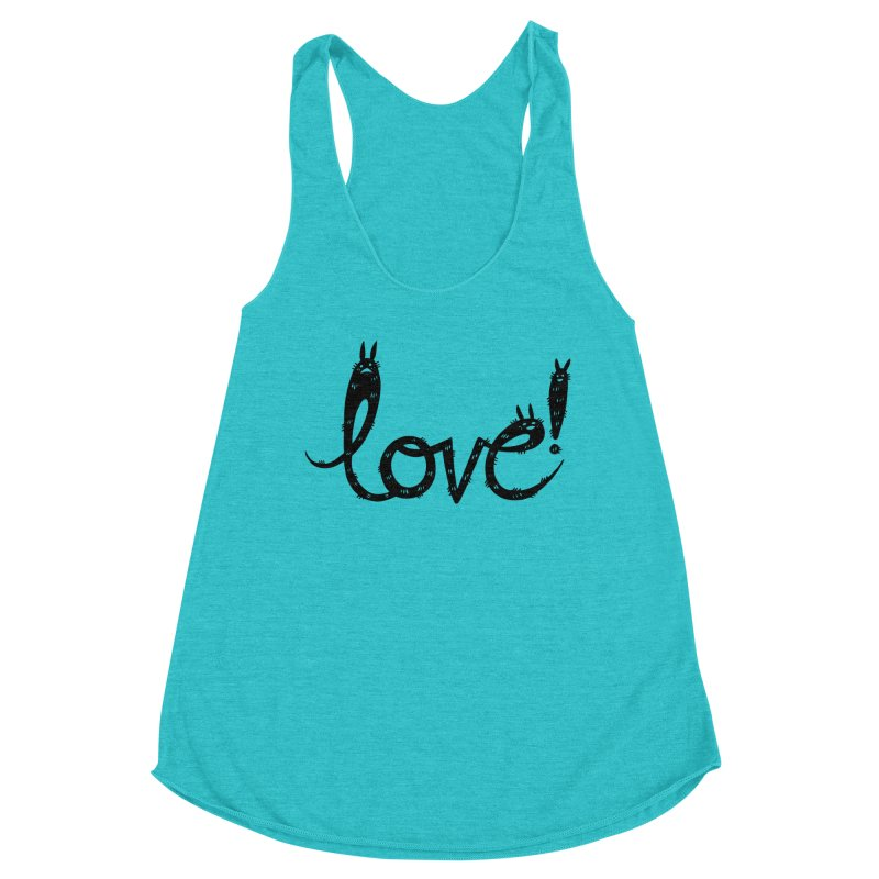 Love! Women's Racerback Triblend Tank by Haypeep's Artist Shop