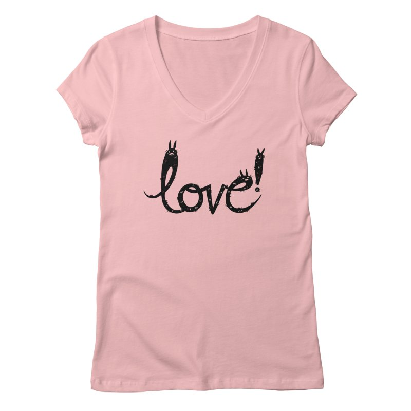 Love! Women's Regular V-Neck by Haypeep's Artist Shop
