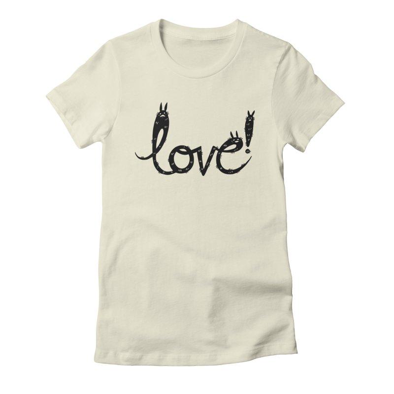 Love! Women's Fitted T-Shirt by Haypeep's Artist Shop