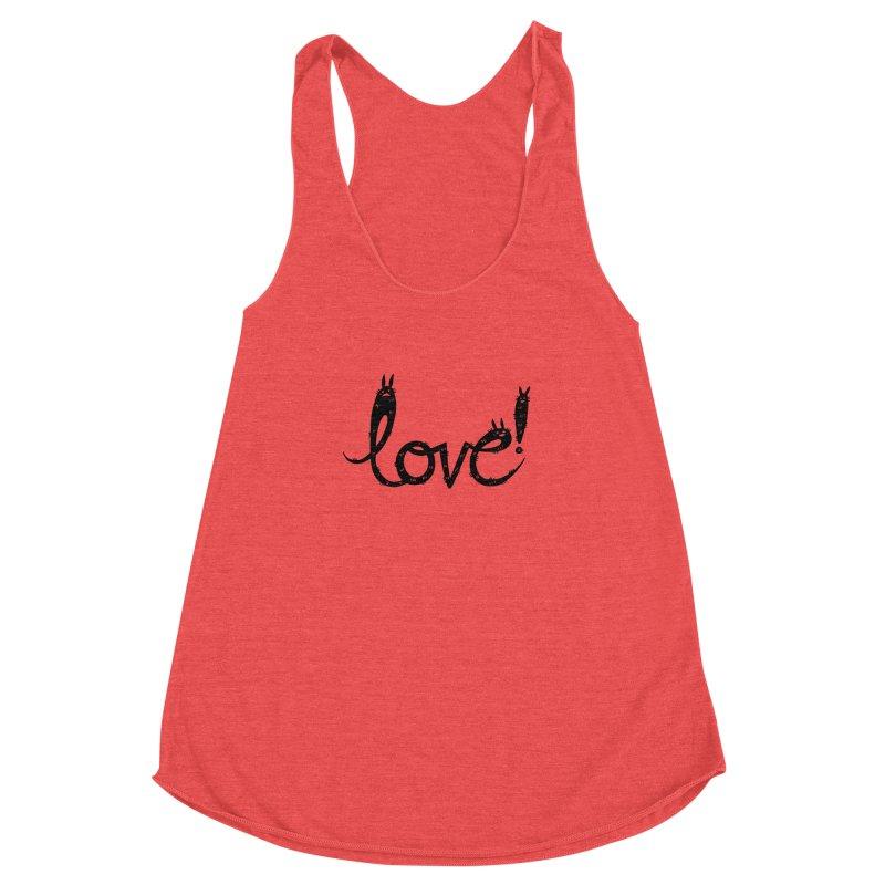 Love! Women's Racerback Triblend Tank by Haypeep's Artist Shop