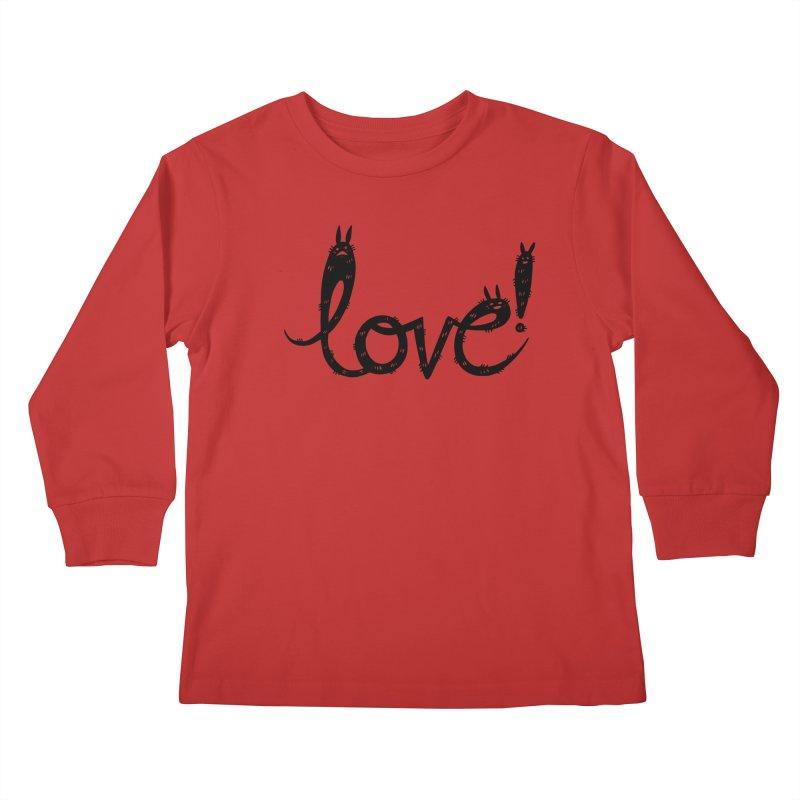 Love! Kids Longsleeve T-Shirt by Haypeep's Artist Shop
