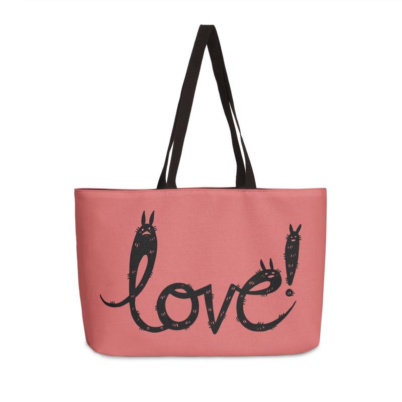 Love! Accessories Weekender Bag Bag by Haypeep's Artist Shop
