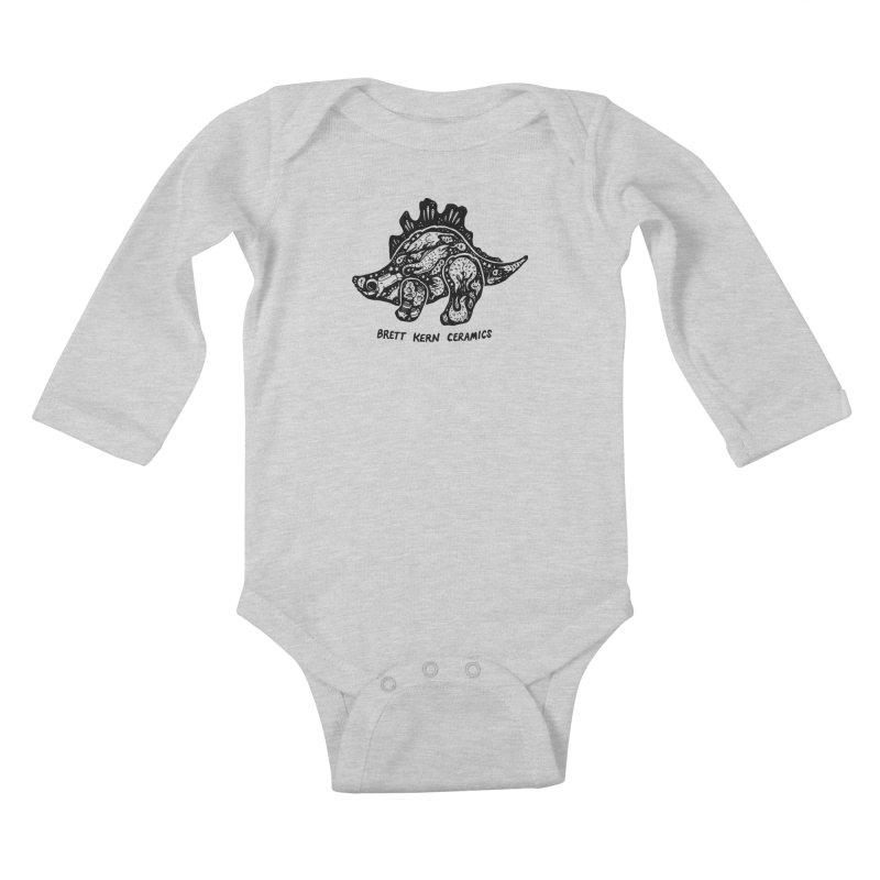 Brett Kern Stego Logo Kids Baby Longsleeve Bodysuit by Haypeep's Artist Shop