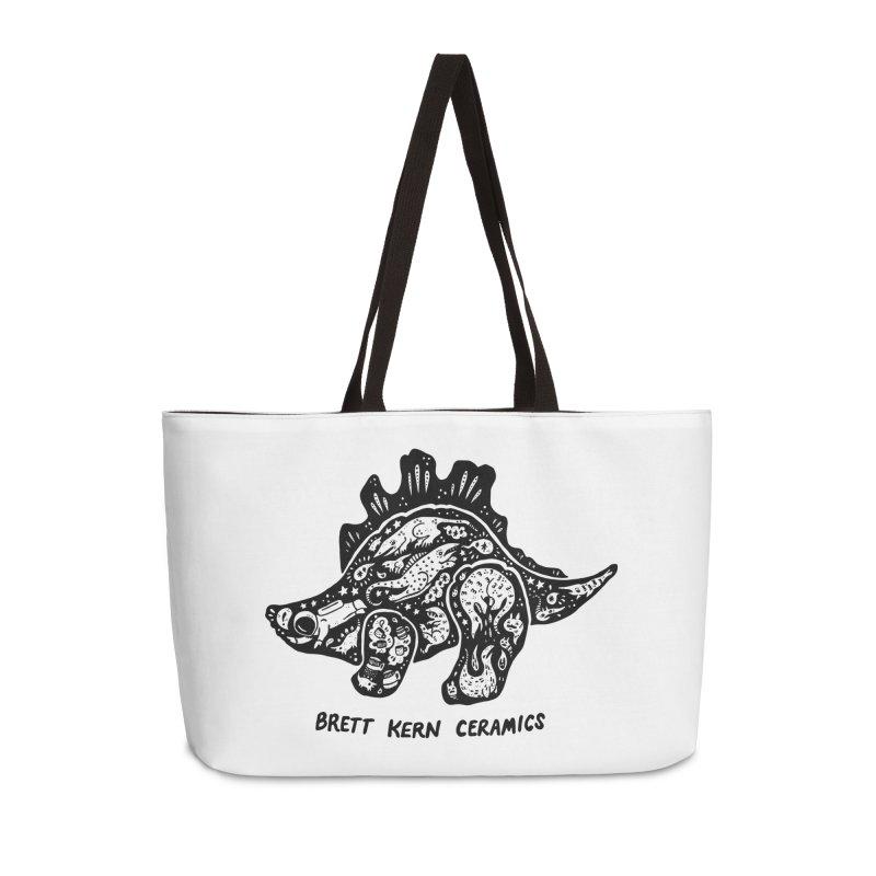 Brett Kern Stego Logo Accessories Weekender Bag Bag by Haypeep's Artist Shop