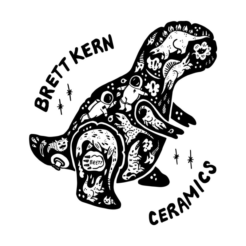 Brett Kern T-Rex Logo Accessories Sticker by Haypeep's Artist Shop