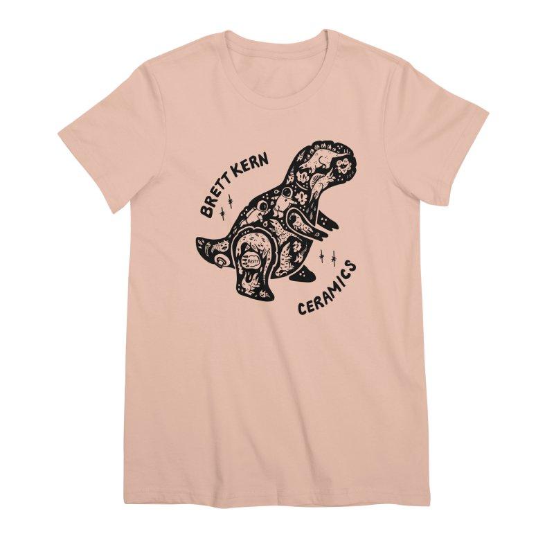 Brett Kern T-Rex Logo Women's Premium T-Shirt by Haypeep's Artist Shop