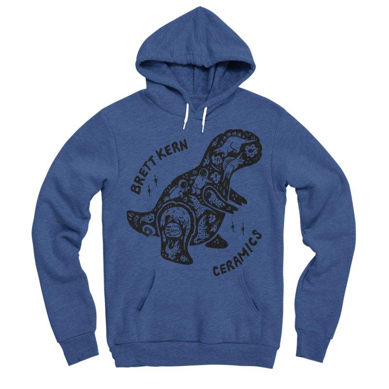 Brett Kern T-Rex Logo Men's Sponge Fleece Pullover Hoody by Haypeep's Artist Shop