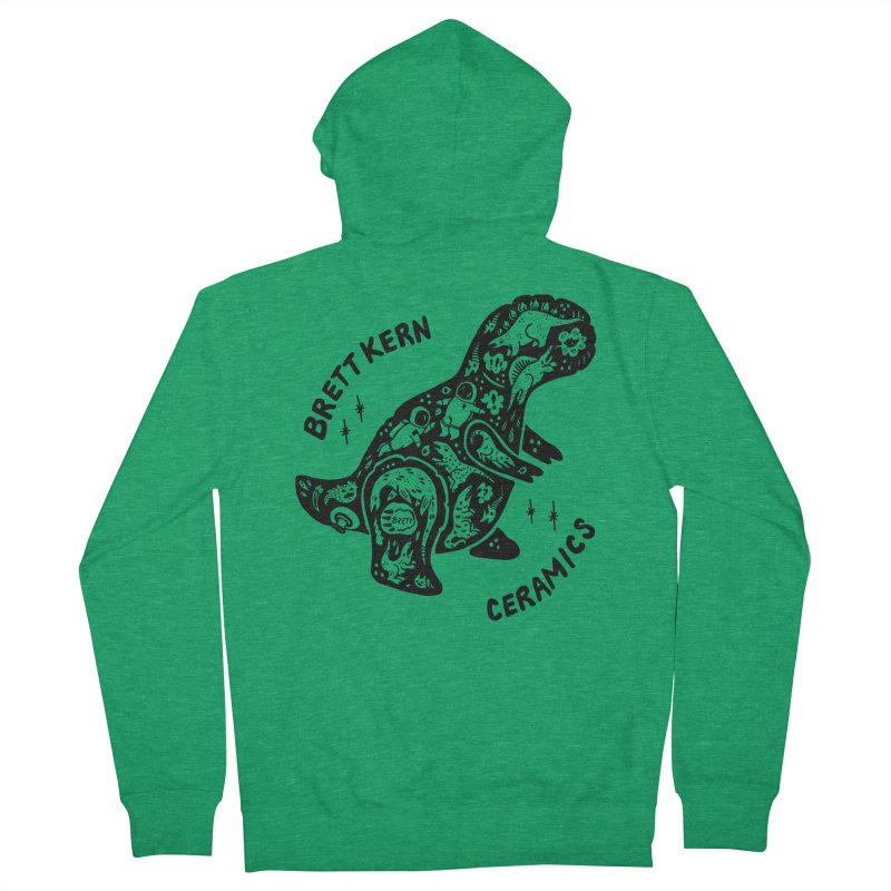 Brett Kern T-Rex Logo Women's Zip-Up Hoody by Haypeep's Artist Shop