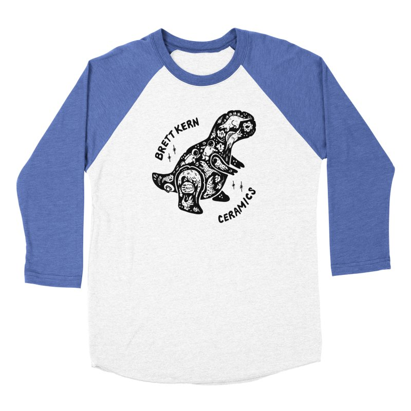 Brett Kern T-Rex Logo Men's Baseball Triblend Longsleeve T-Shirt by Haypeep's Artist Shop