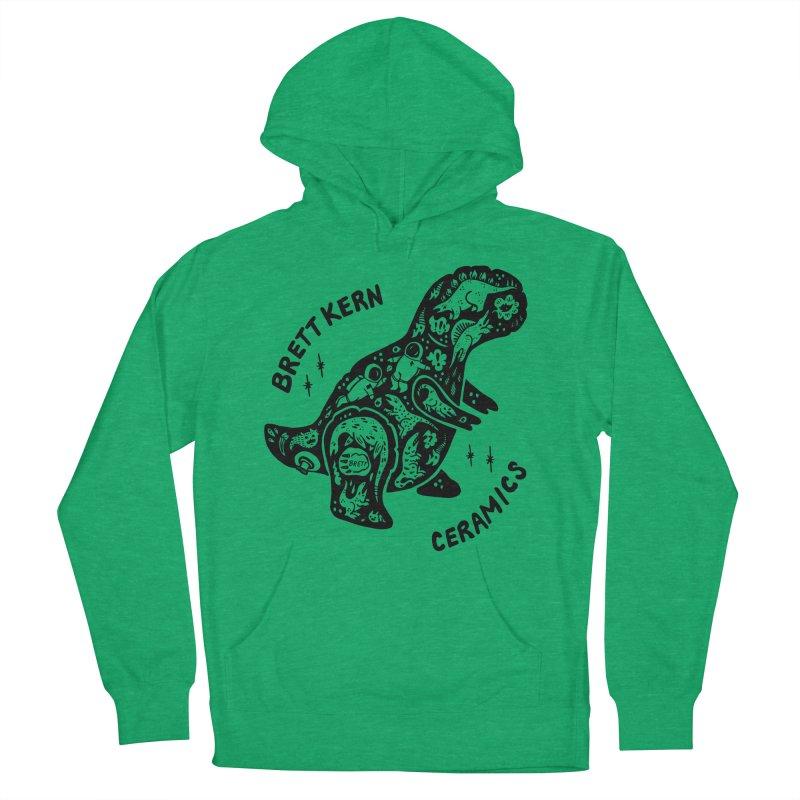 Brett Kern T-Rex Logo Women's French Terry Pullover Hoody by Haypeep's Artist Shop