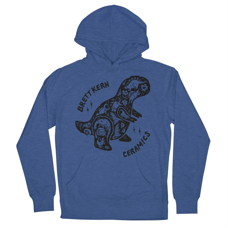 Brett Kern T-Rex Logo Men's French Terry Pullover Hoody by Haypeep's Artist Shop