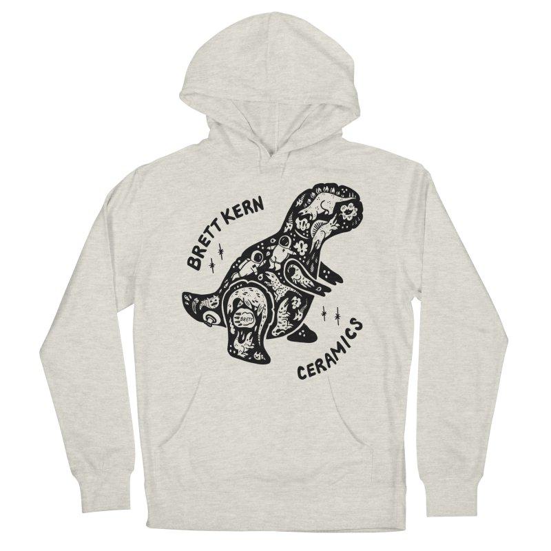 Brett Kern T-Rex Logo Men's French Terry Pullover Hoody by Haypeep's Artist Shop