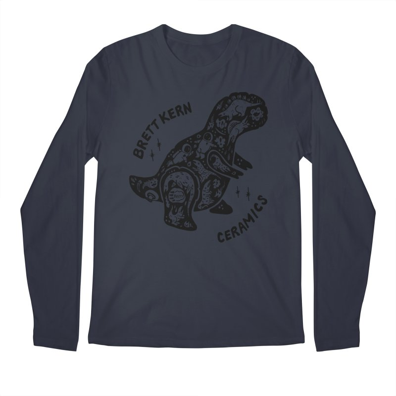 Brett Kern T-Rex Logo Men's Longsleeve T-Shirt by Haypeep's Artist Shop