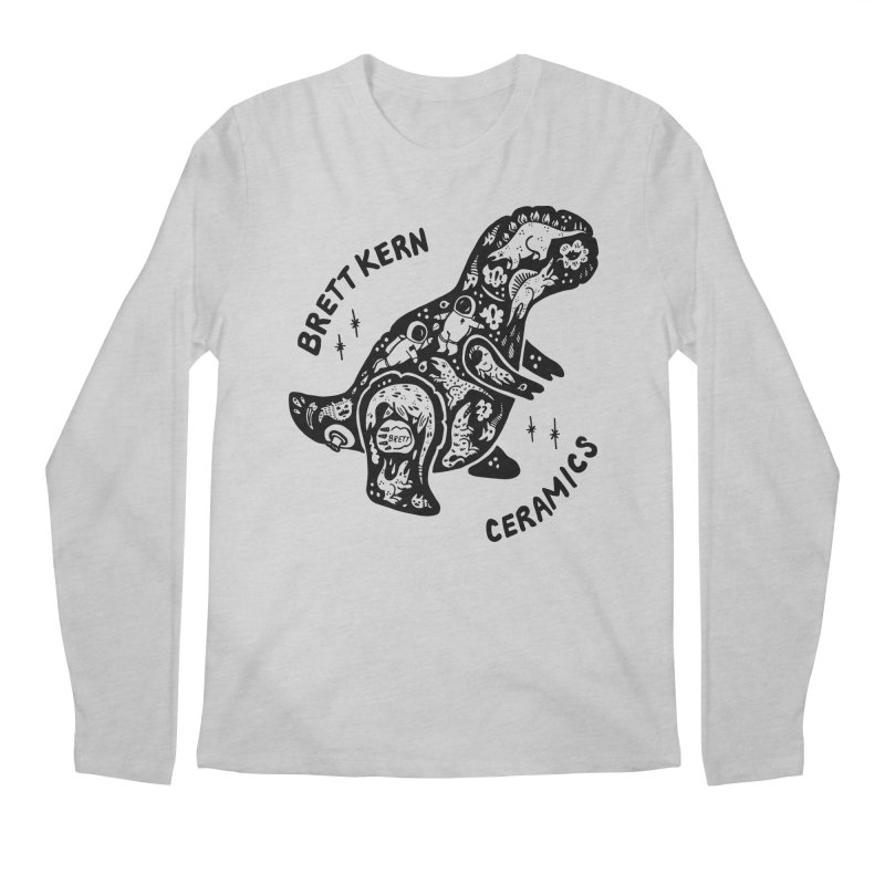 Brett Kern T-Rex Logo Men's Regular Longsleeve T-Shirt by Haypeep's Artist Shop