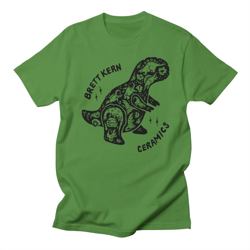 Brett Kern T-Rex Logo Men's Regular T-Shirt by Haypeep's Artist Shop