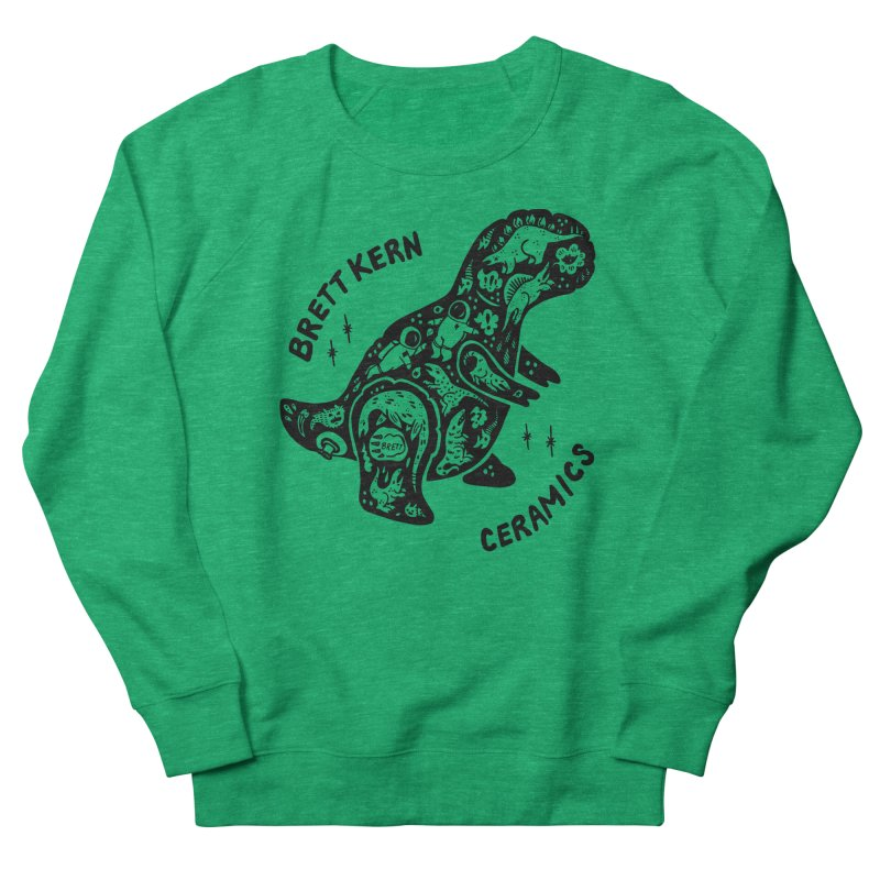 Brett Kern T-Rex Logo Men's French Terry Sweatshirt by Haypeep's Artist Shop