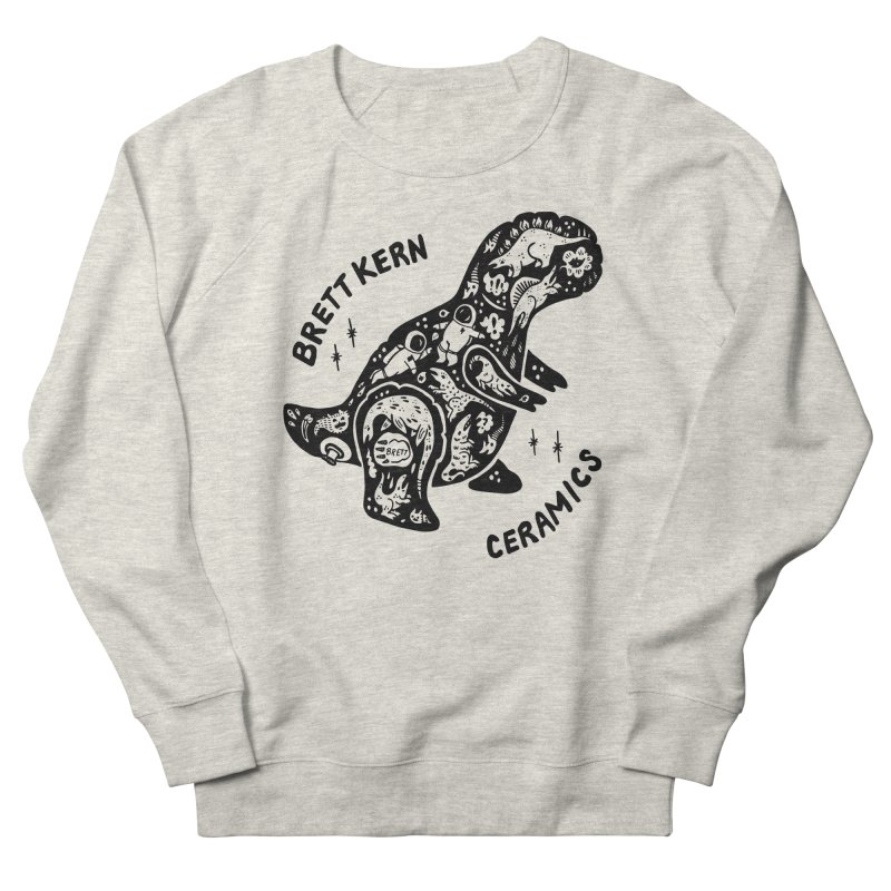 Brett Kern T-Rex Logo Men's French Terry Sweatshirt by Haypeep's Artist Shop
