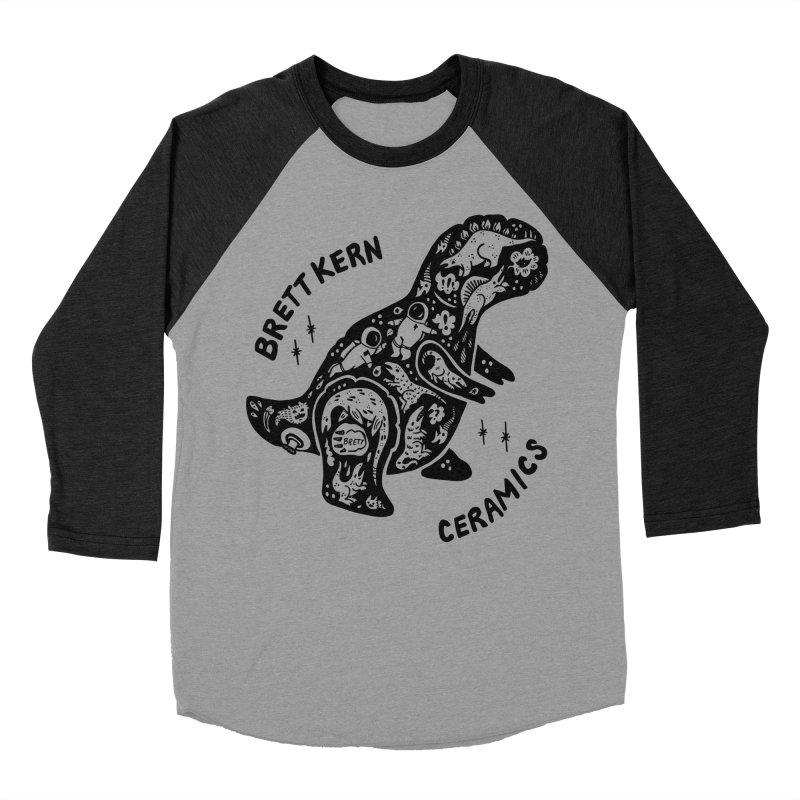 Brett Kern T-Rex Logo Women's Baseball Triblend Longsleeve T-Shirt by Haypeep's Artist Shop