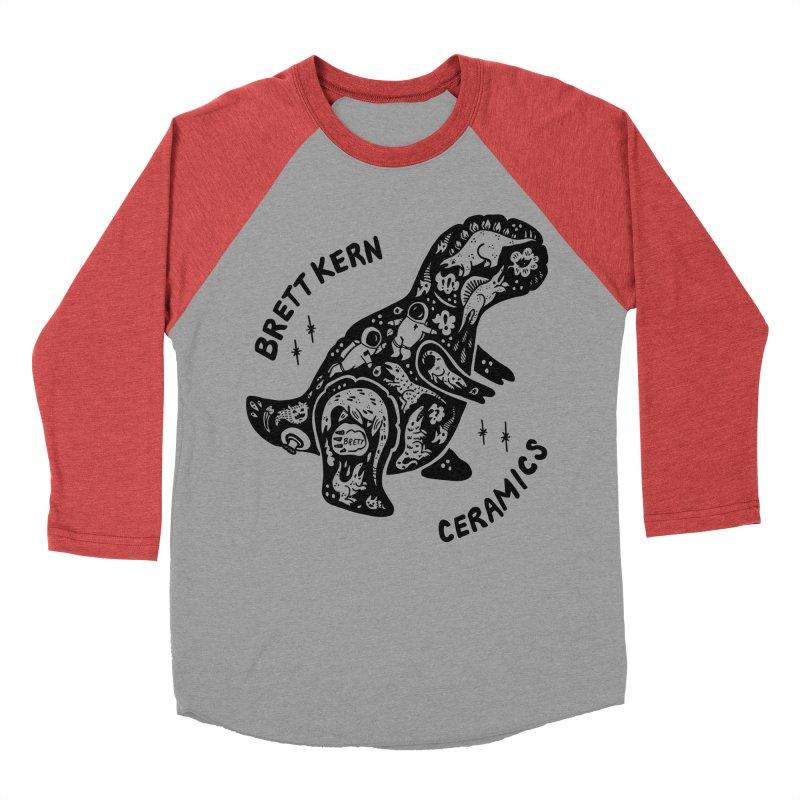 Brett Kern T-Rex Logo Men's Baseball Triblend Longsleeve T-Shirt by Haypeep's Artist Shop