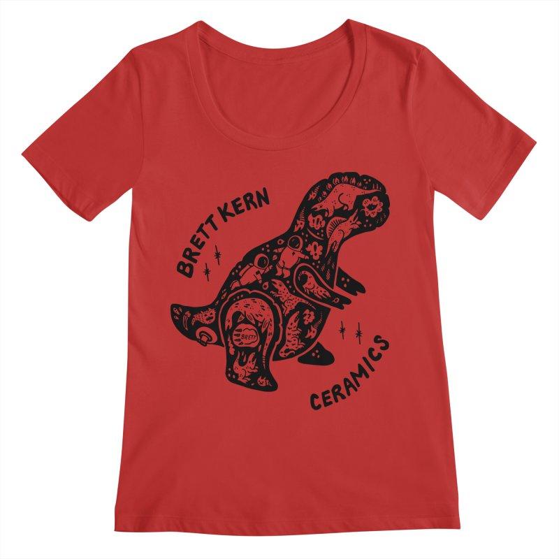 Brett Kern T-Rex Logo Women's Regular Scoop Neck by Haypeep's Artist Shop