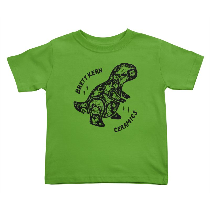 Brett Kern T-Rex Logo Kids Toddler T-Shirt by Haypeep's Artist Shop