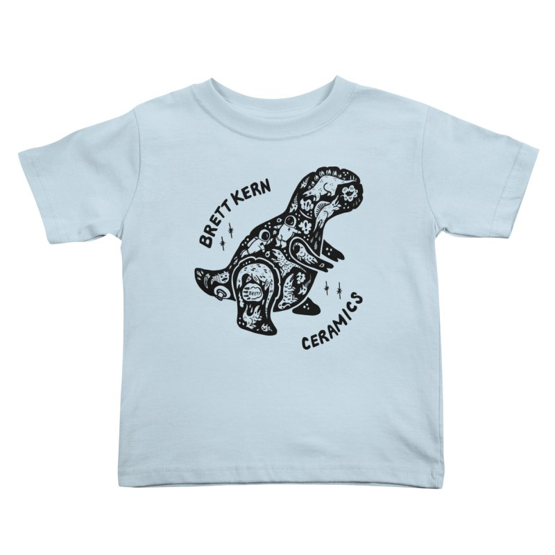 Brett Kern T-Rex Logo Kids Toddler T-Shirt by Haypeep's Artist Shop