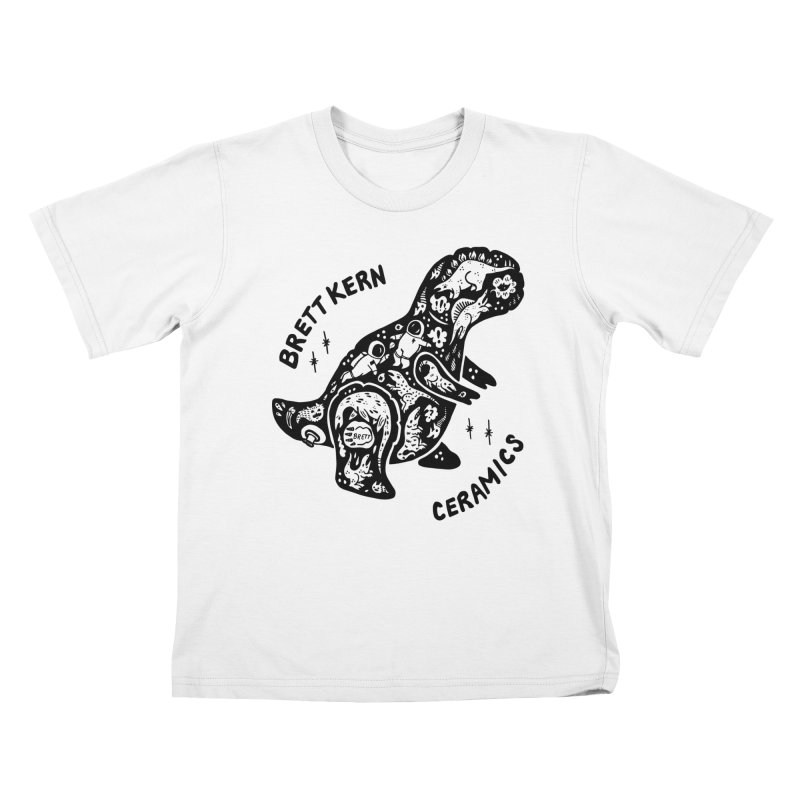 Brett Kern T-Rex Logo Kids T-Shirt by Haypeep's Artist Shop