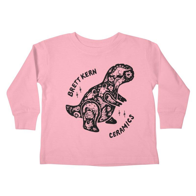 Brett Kern T-Rex Logo Kids Toddler Longsleeve T-Shirt by Haypeep's Artist Shop