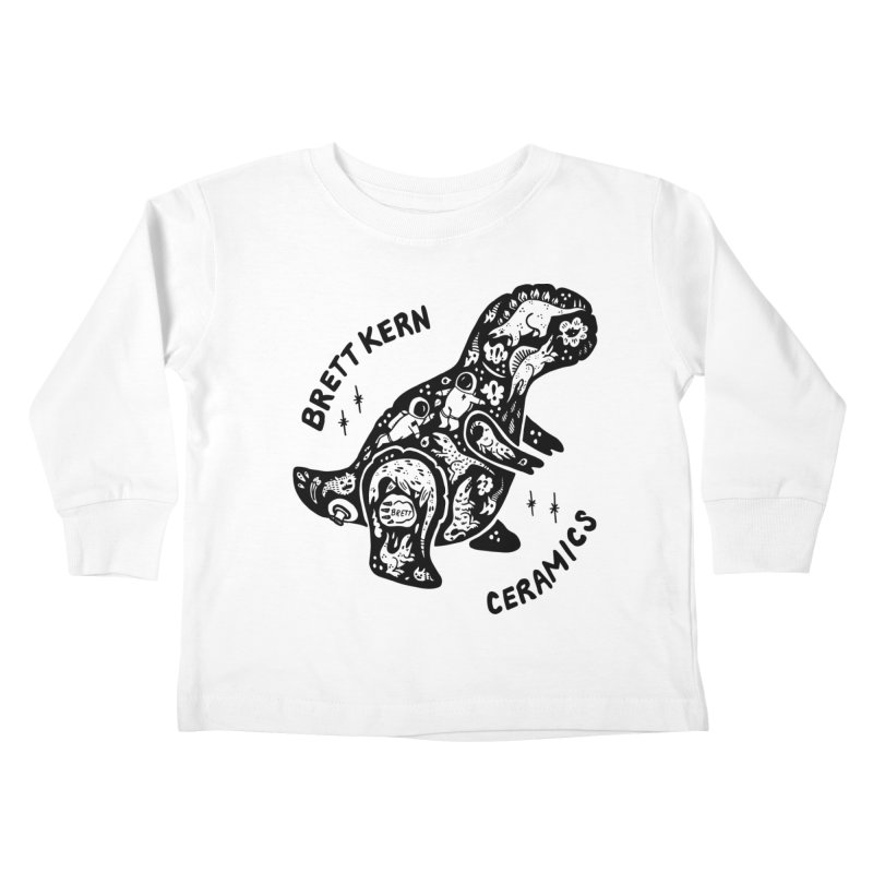Brett Kern T-Rex Logo Kids Toddler Longsleeve T-Shirt by Haypeep's Artist Shop