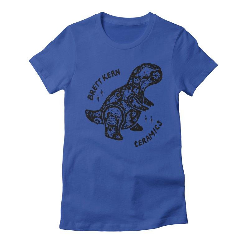 Brett Kern T-Rex Logo Women's Fitted T-Shirt by Haypeep's Artist Shop