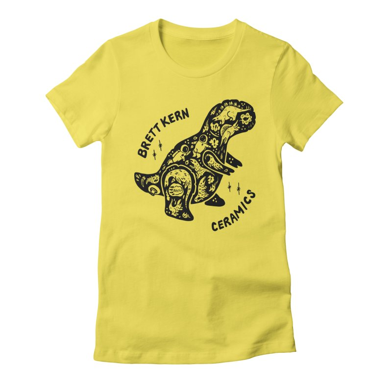 Brett Kern T-Rex Logo Women's Fitted T-Shirt by Haypeep's Artist Shop