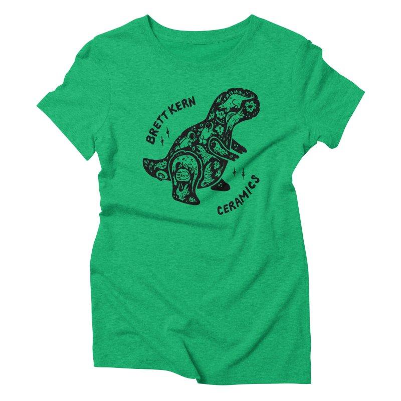 Brett Kern T-Rex Logo Women's Triblend T-Shirt by Haypeep's Artist Shop