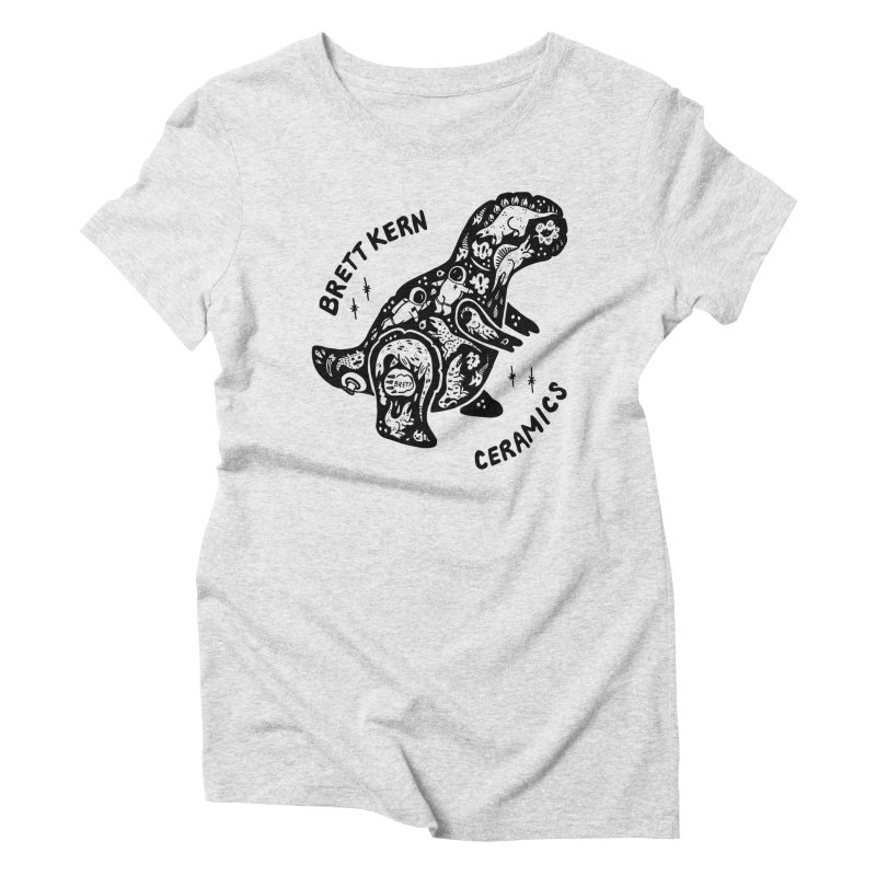Brett Kern T-Rex Logo Women's Triblend T-Shirt by Haypeep's Artist Shop
