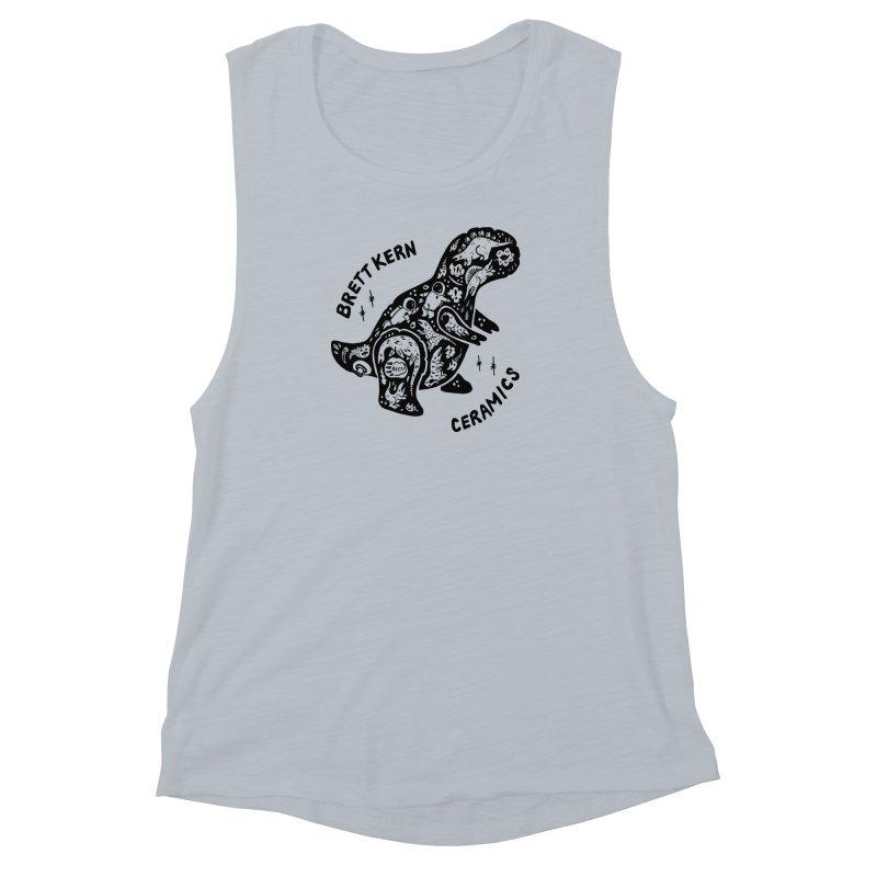 Brett Kern T-Rex Logo Women's Muscle Tank by Haypeep's Artist Shop