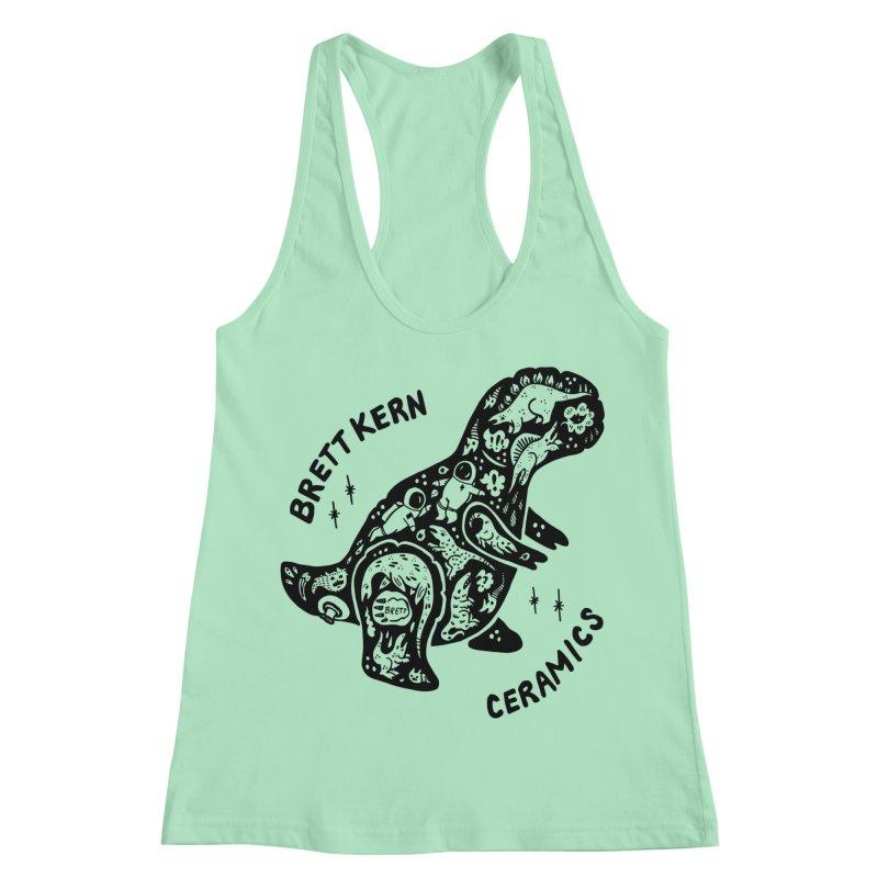 Brett Kern T-Rex Logo Women's Racerback Tank by Haypeep's Artist Shop