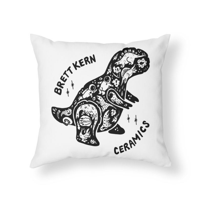 Brett Kern T-Rex Logo Home Throw Pillow by Haypeep's Artist Shop