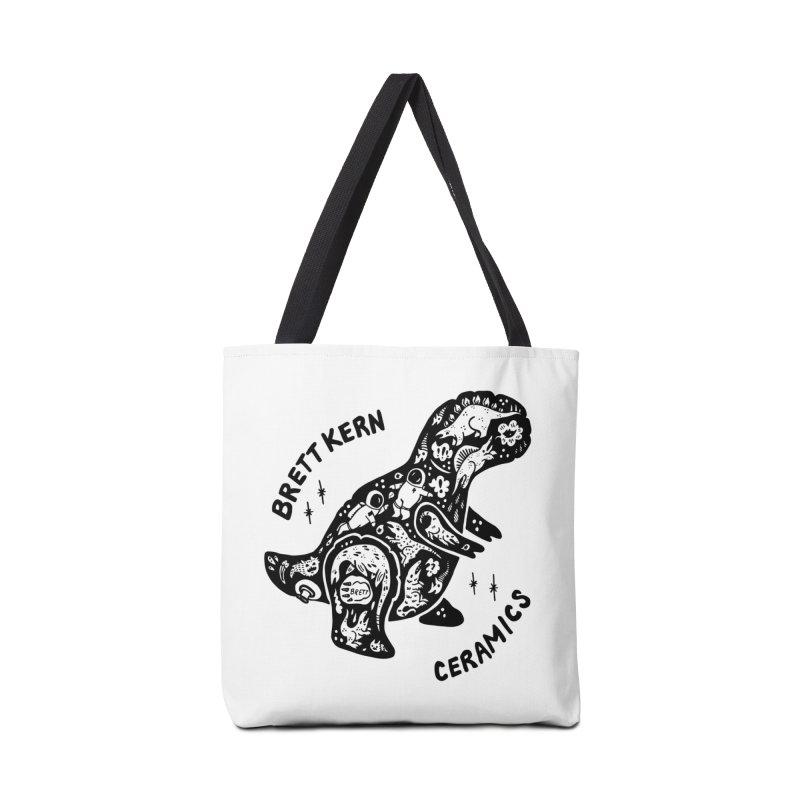 Brett Kern T-Rex Logo Accessories Bag by Haypeep's Artist Shop