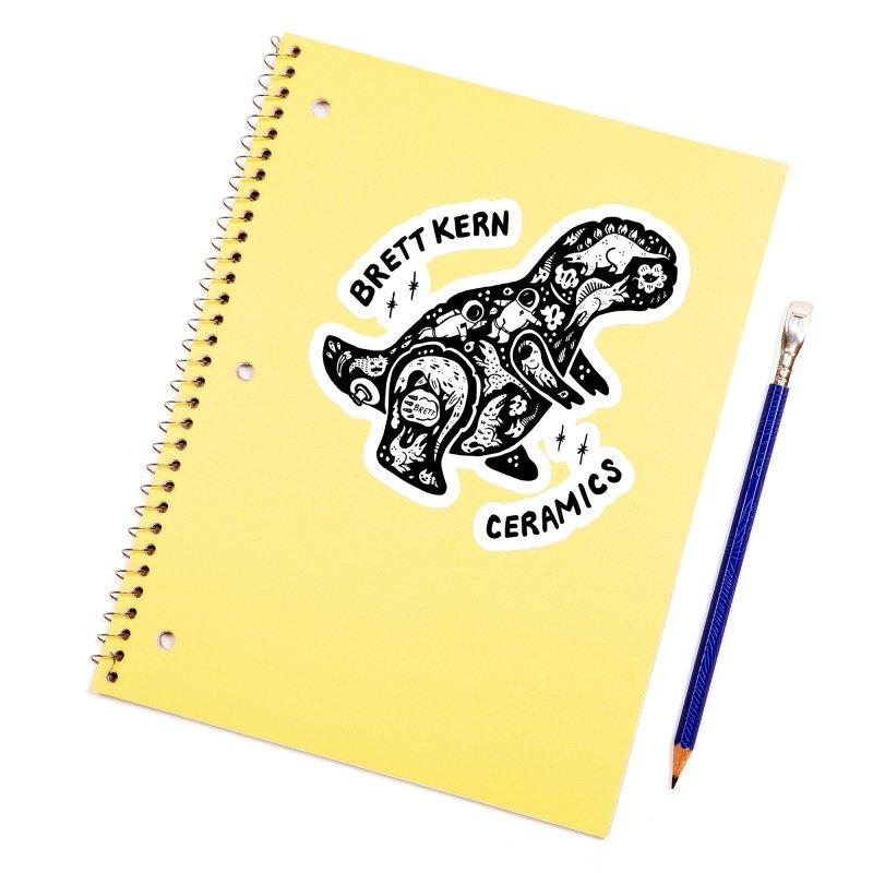 Brett Kern T-Rex Logo Accessories Sticker by Haypeep's Artist Shop