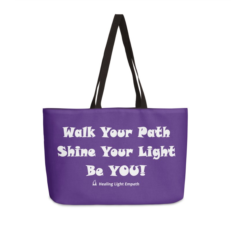 Walk Your Path Affirmation Accessories Bag by Welcome to Healing Light Empath's Shop!