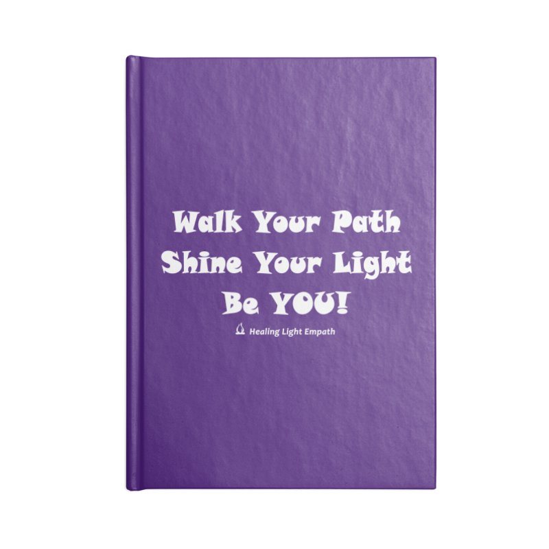 Walk Your Path Affirmation Accessories Notebook by Welcome to Healing Light Empath's Shop!