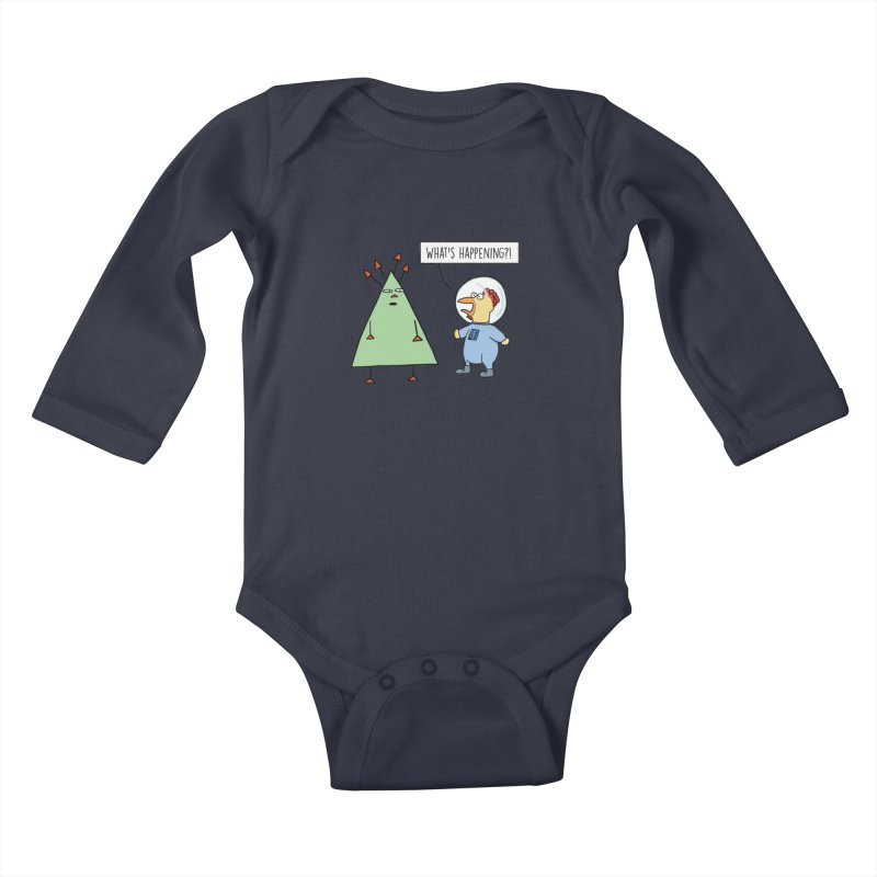 Chauncey and the Alien Kids Baby Longsleeve Bodysuit by Hedger Humor's Artist Shop