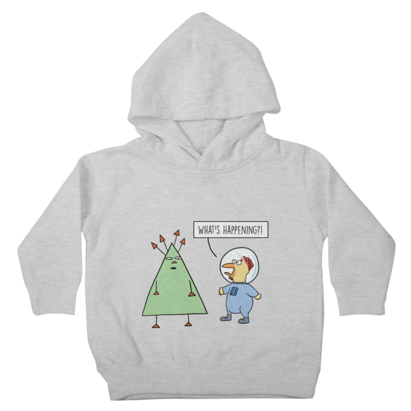 Chauncey and the Alien Kids Toddler Pullover Hoody by Hedger Humor's Artist Shop