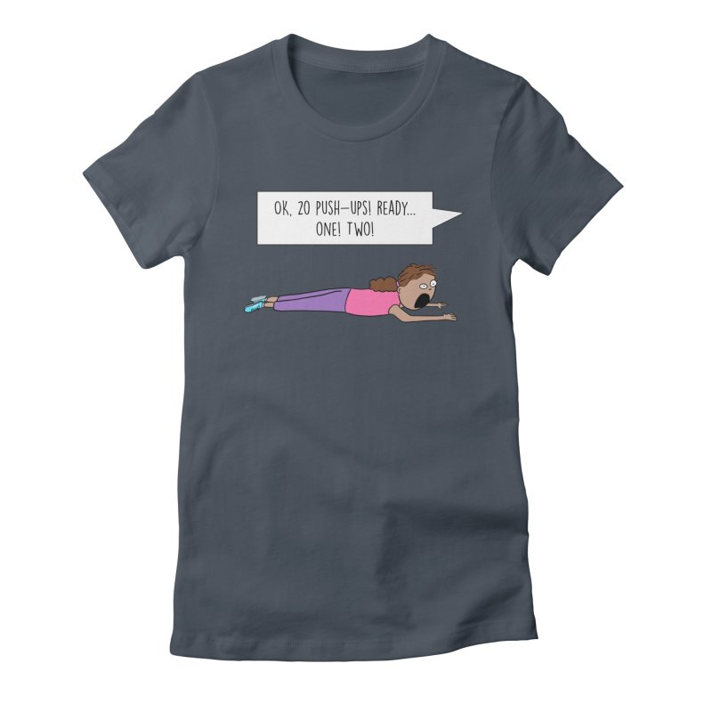 Woman Working Out Women's T-Shirt by Hedger Humor's Artist Shop