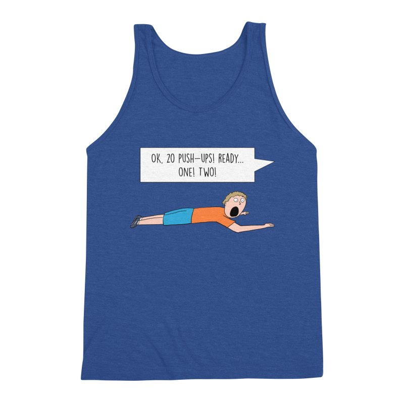 Man Working Out Men's Tank by Hedger Humor's Artist Shop