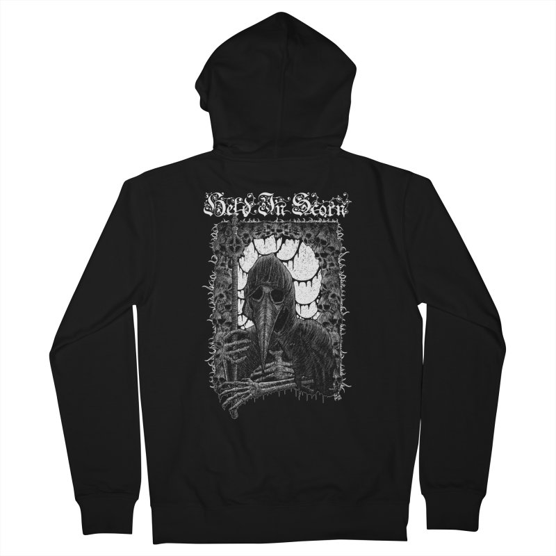Atra Mors Design Women's French Terry Zip-Up Hoody by Held In Scorn Merch